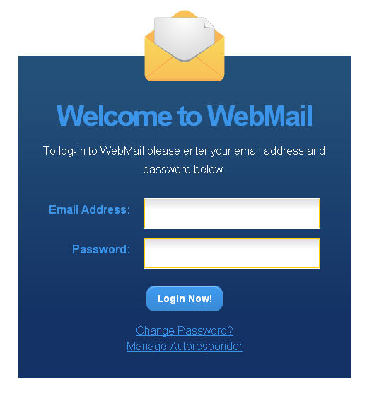 Picture of Village Internet's webmail login screen